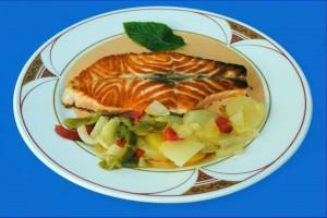 salmon crema